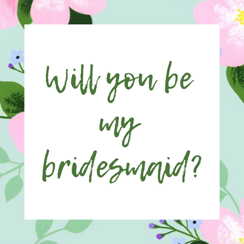 Moon and Lola Will You Be My Bridesmaid Printable Card