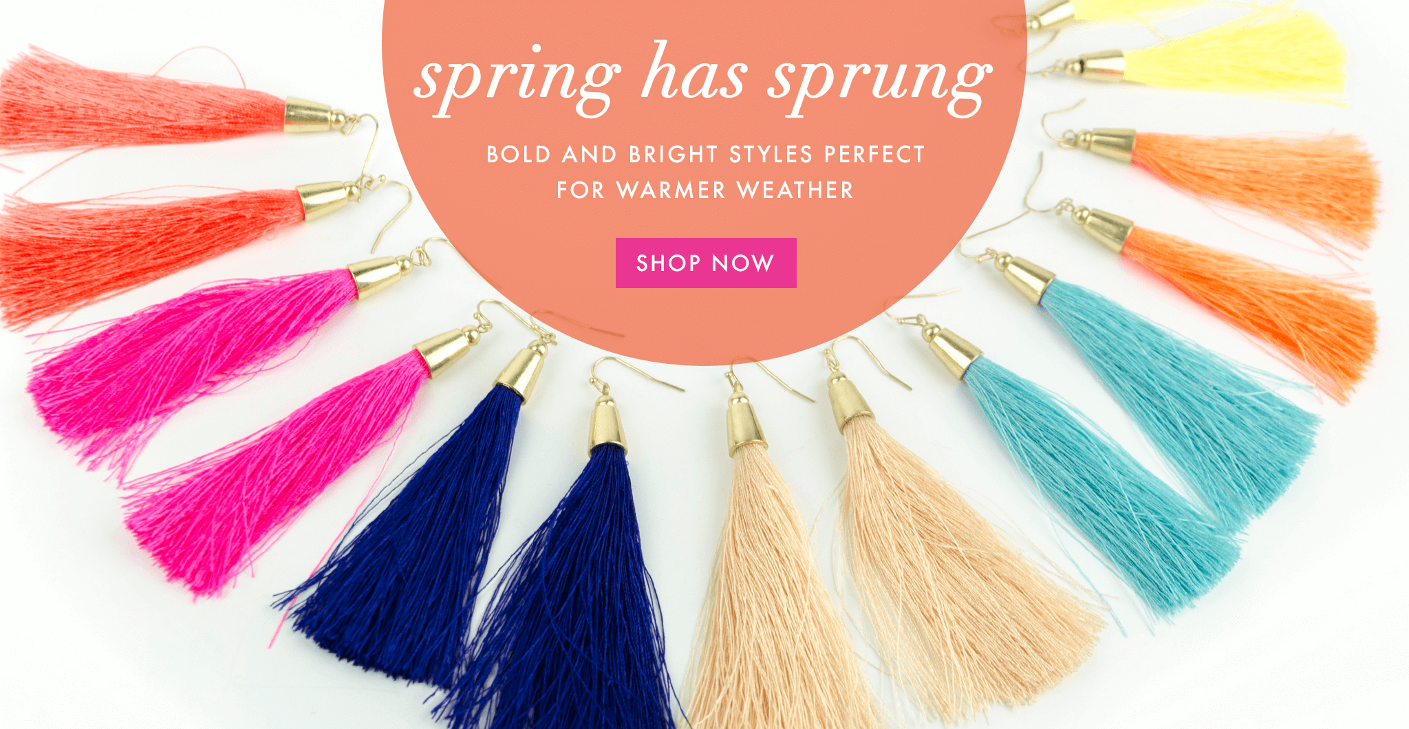 Moon and Lola - Spring Has Spring With Tassels and Pompoms