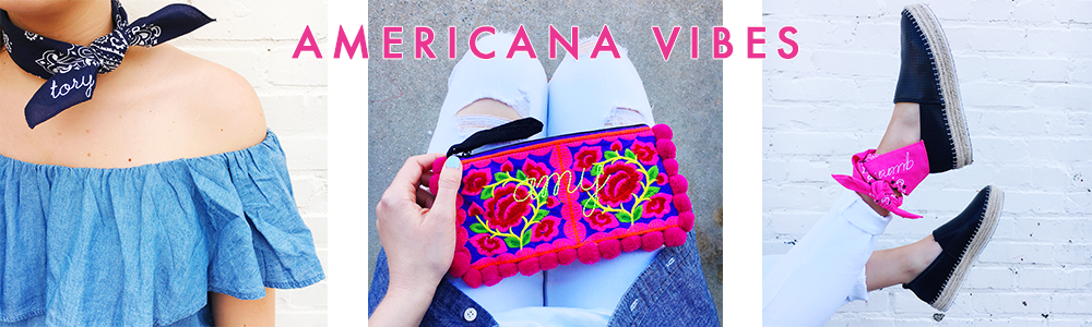 Moon and Lola - GMA Bandanas and Pom Pom Punch Clutch Collection