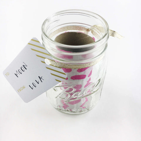 step two to make a surprise e-gift card in a mason jar