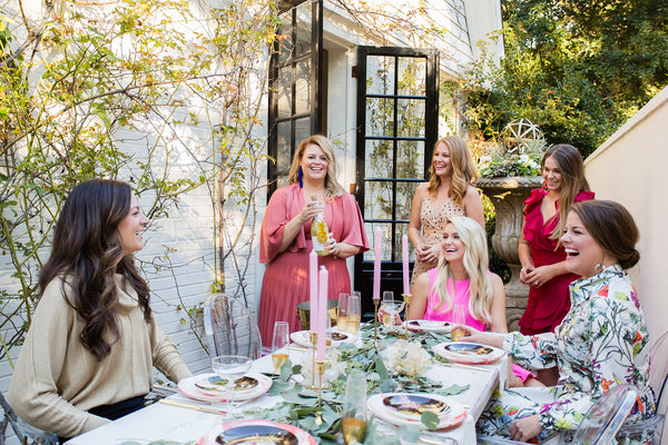 Kelly Shatat house featured in Walter Magazine side garden party