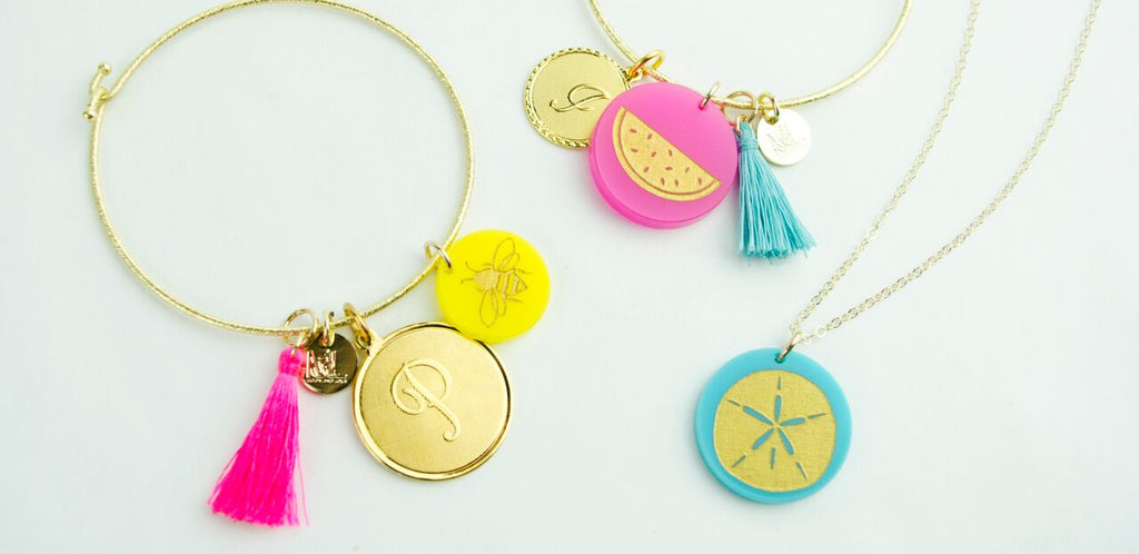 moon and lola charm bar summer collection of colorful jewelry