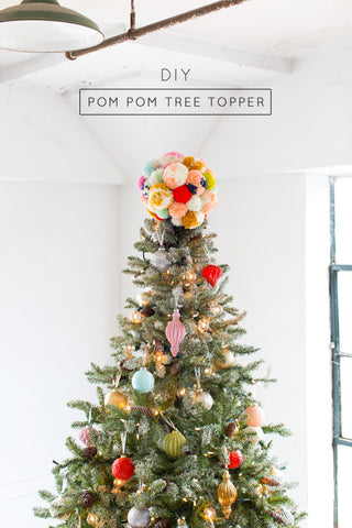 Martha-Stewart-Christmas close image of pom pom tree topper