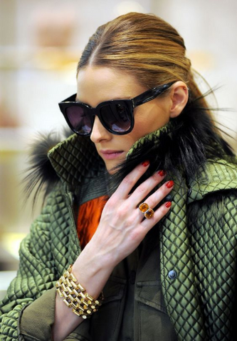 Moon and Lola's Peto Bracelet is the look of Olivia Palermo's Chain Link Bracelet