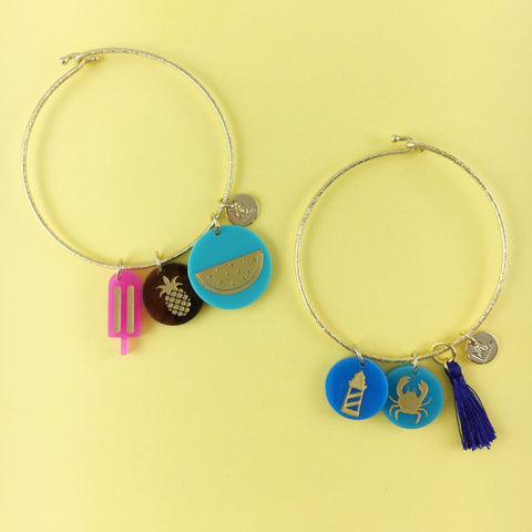 Moon and Lola Beach Themed Charm Bracelets from the Charm Bar #charmbar