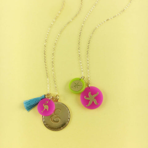 Moon and Lola Beach Themed Charm Necklaces from the Charm Bar #charm bar
