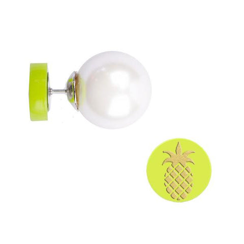 Moon and Lola Pineapple 360 Stud Earrings with Pearl backs