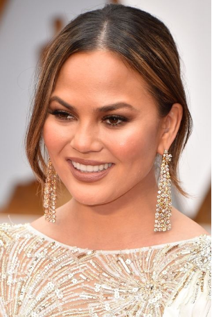 Moon and Lola Thasos Earrings give the look seen on Chrissy Teigen