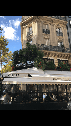 moon and lola a sidewalk cafe in paris france