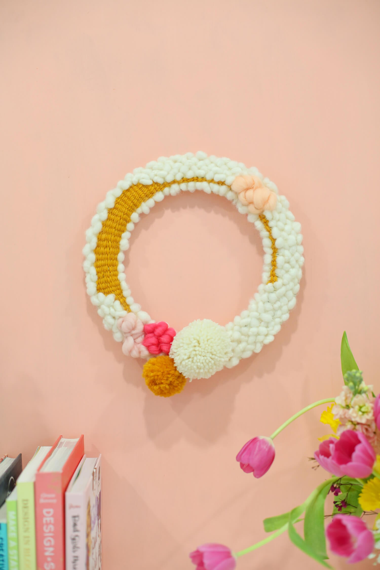 Moon and Lola diy spring time wreath idea by lovely indeed