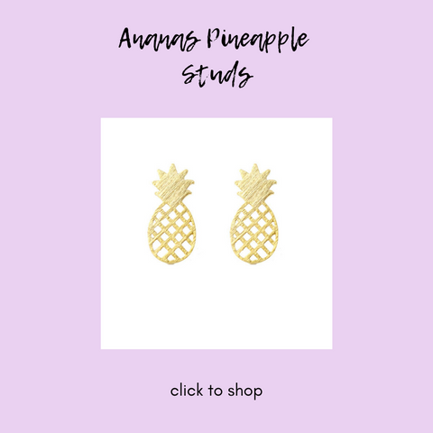 Moon and Lola Ananas Pineapple Studs