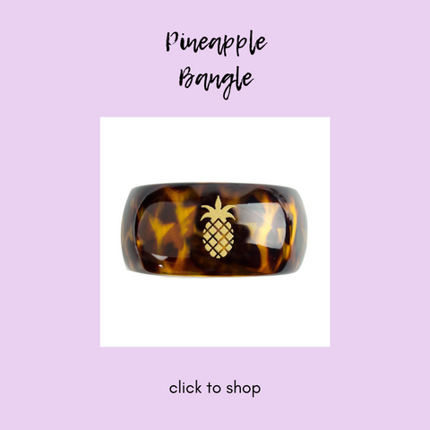 Moon and Lola Tortoise Pineapple Parker Bangle
