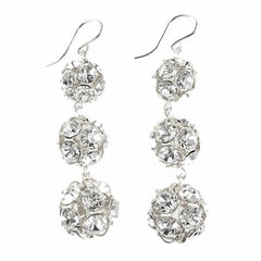 Moon and Lola Europa Rhinestone Graduated Earrings