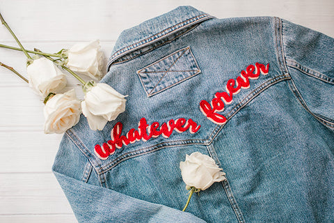 moon and lola loves lauren conrad's diy hand embroidered denim jacket how to blog post