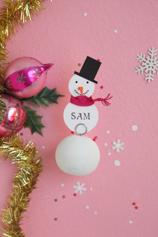 oh happy day sam snowmany placecard