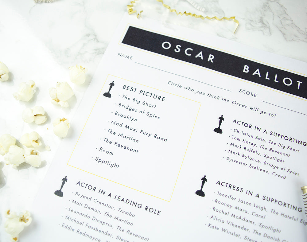 picture about Oscar Ballots Printable named Printable Oscar Ballot Moon and Lola