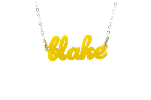 I found this at #moonandlola! - Acrylic Nameplate Necklaces A-B