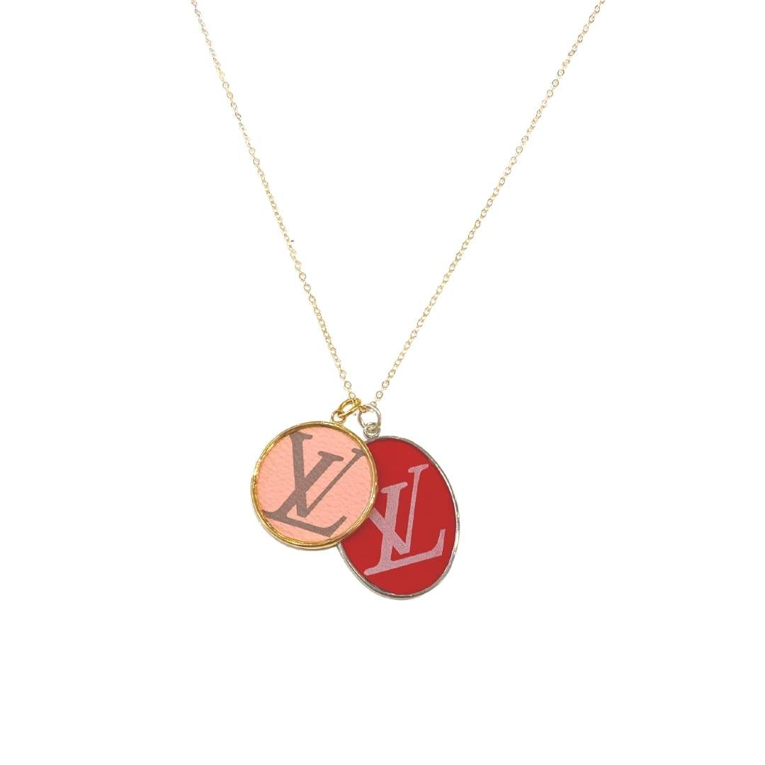 Leone Red Printed Oval Charm
