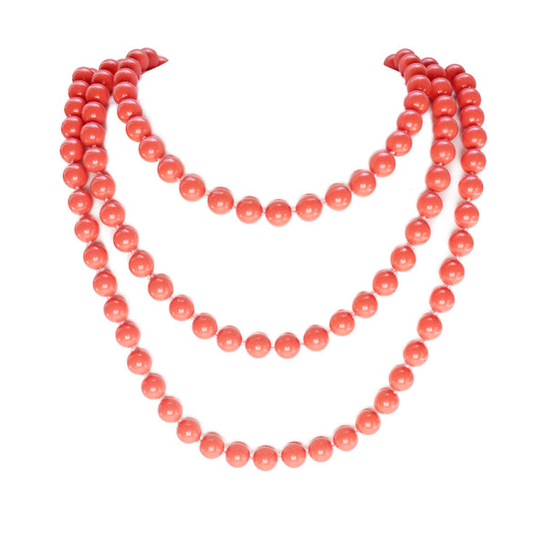 I found this at #moonandlola! - Charleston Necklace Coral