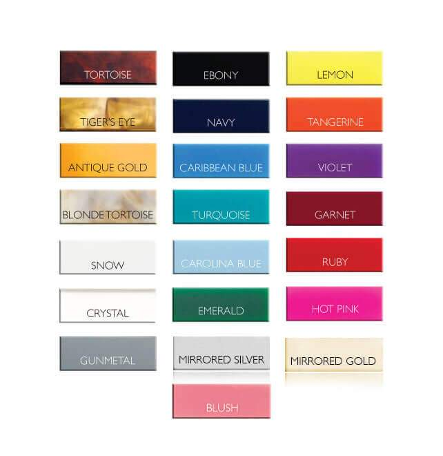 Moon and Lola  - Color Chart