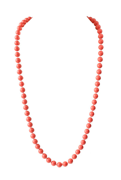 Moon and Lola - Charleston Long Necklace Coral