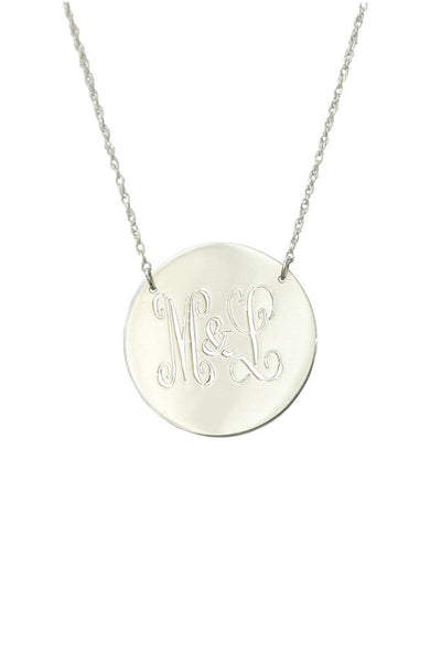 I found this at #moonandlola - Metal Disc Necklace close up