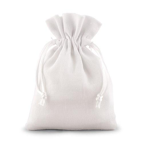 Moon and Lola - Small White Drawstring Jewelry Pouch