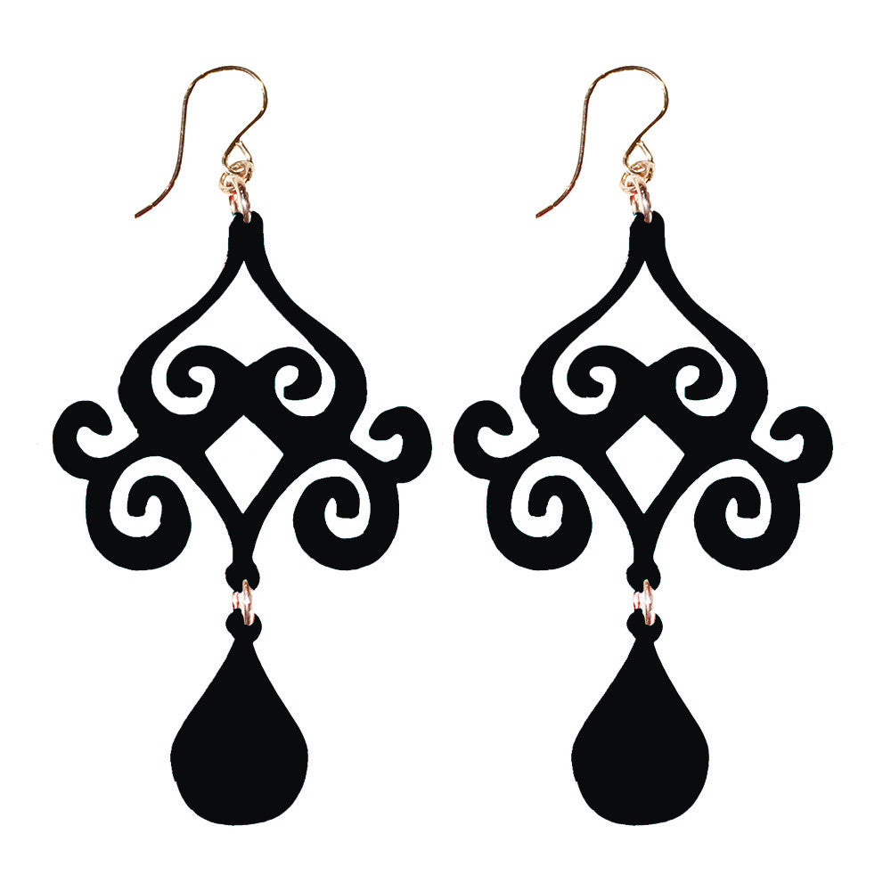 I found this at #moonandlola! - Acrylic Dubai Earrings in Ebony