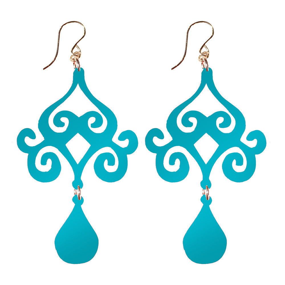 I found this at #moonandlola! - Acrylic Dubai Earrings in Turquoise