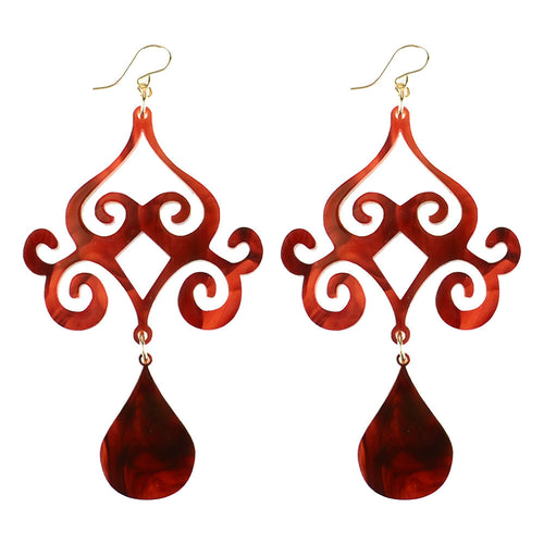 Acrylic Dubai Dangle Earrings (comes in various colors) - #moonandlola