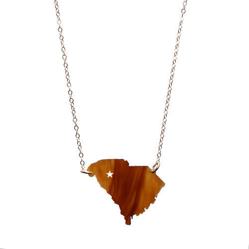 I found this at #moonandlola! - Acrylic State Star Necklace Tiger's Eye