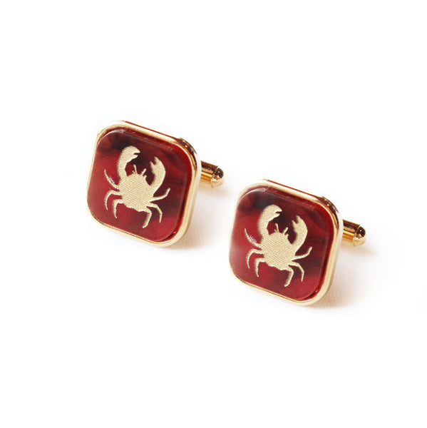 I found this at #moonandlola! - Eden Square Cuff Links Tortoise with Gold Crabs