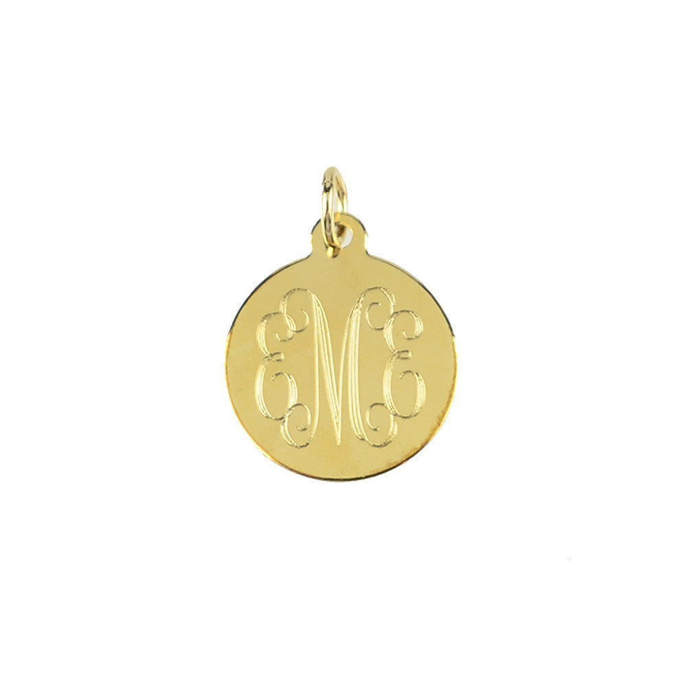 Moon and Lola - Alexander Charm with Script Font Monogram