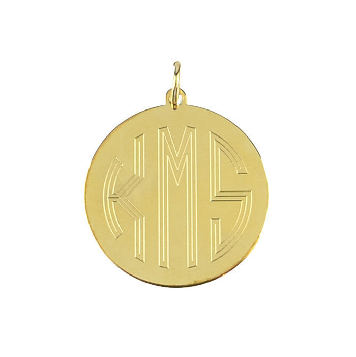 Moon and Lola - Alexander Charm with Block Font Monogram