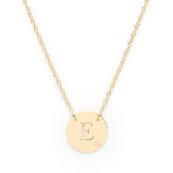Moon and Lola - Alia Block Initial Necklace