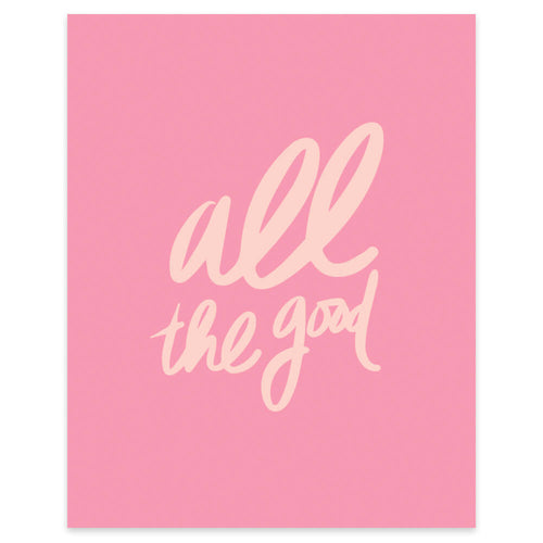 "Moon and Lola xx Thimblepress ""All The Good"" framable print"