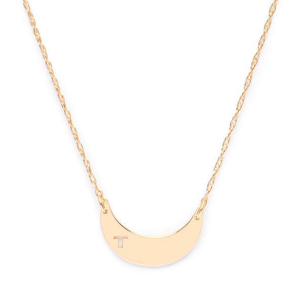 Moon and Lola - Avis Initial Necklace Gold