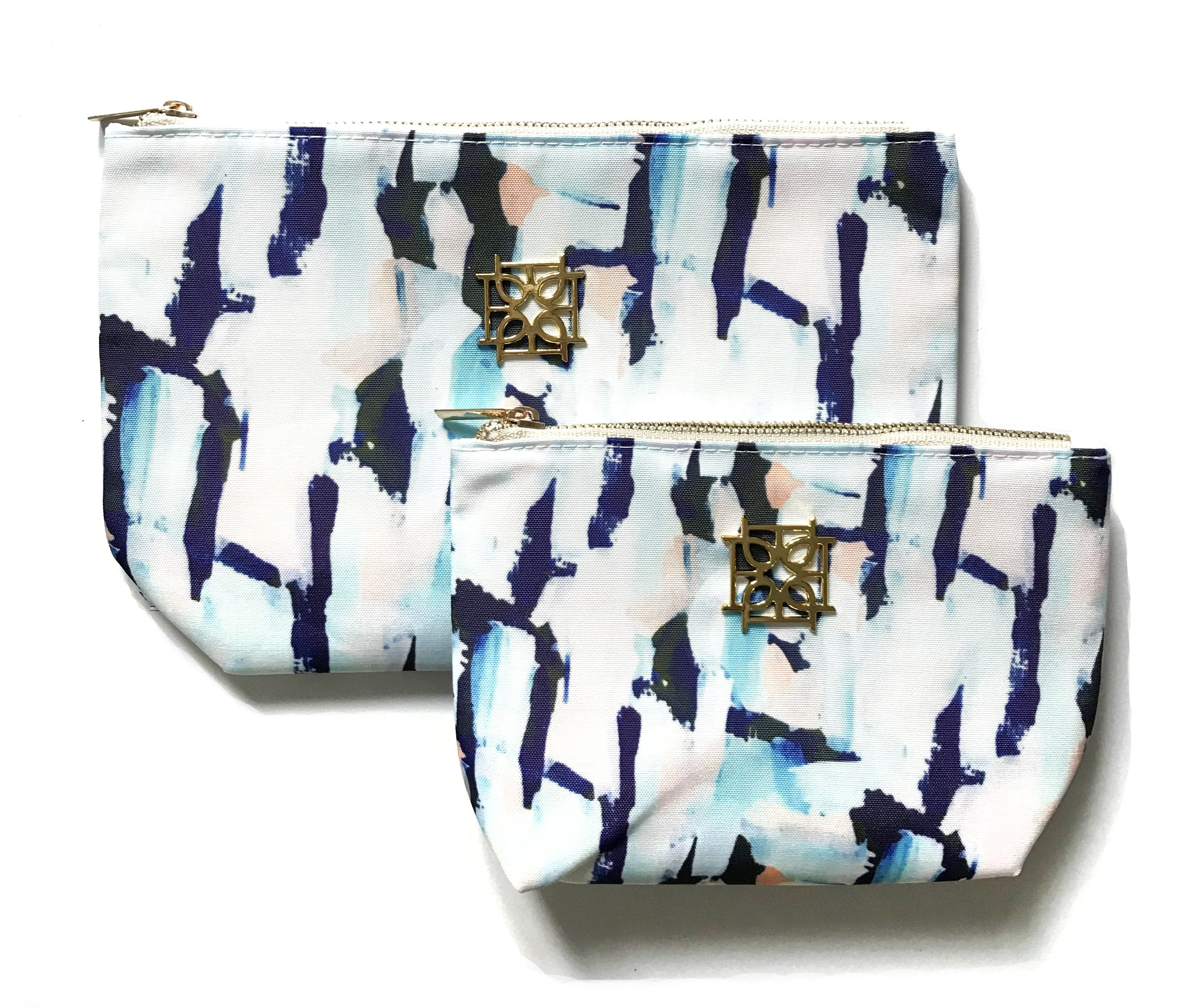 Moon and Lola - Blush Label Cosmetic Bag in Tilda print