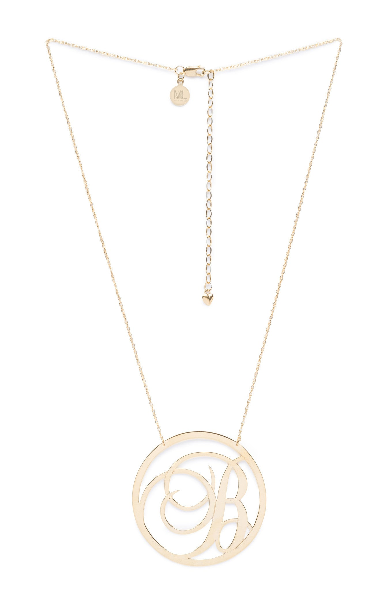 I found this at #moonandlola - Beso Metal Script Single Initial Necklace