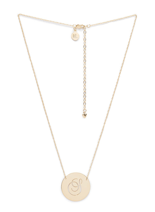 Moon and Lola - Beso Disc Necklace Gold