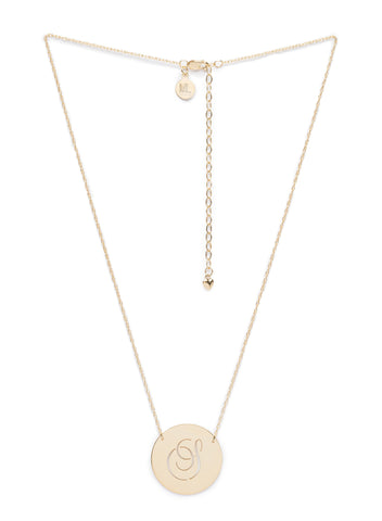 Moon and Lola - Beso Disc Necklace