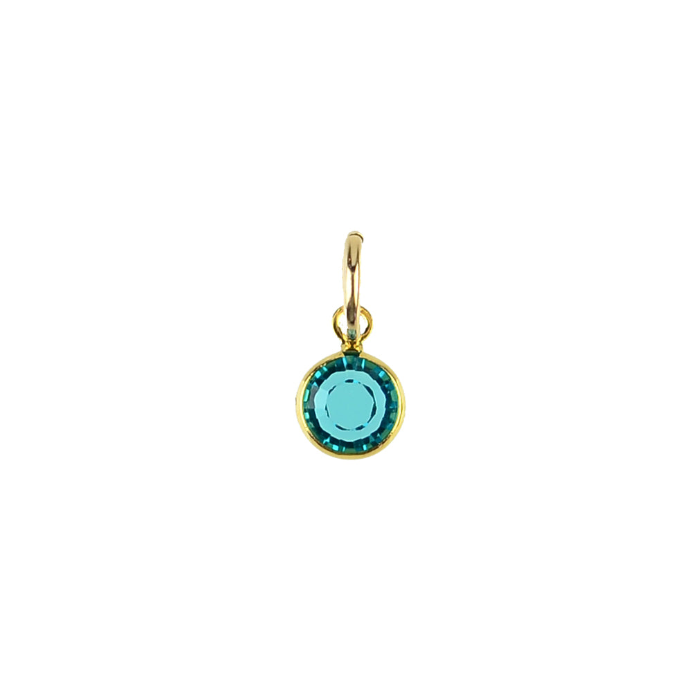 Moon and Lola - Birthstone Charm Blue Zircon