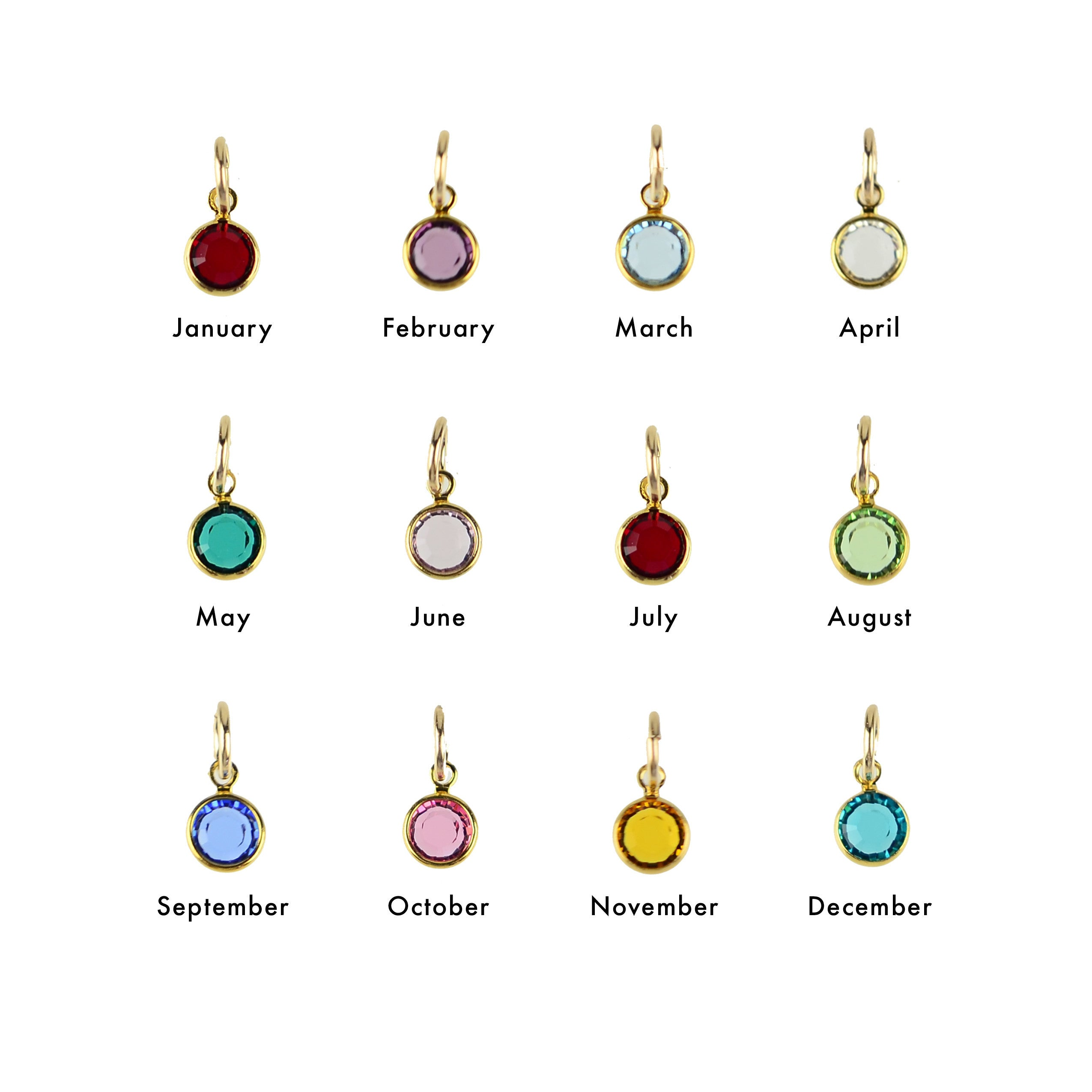 Moon and Lola - Birthstone Charms