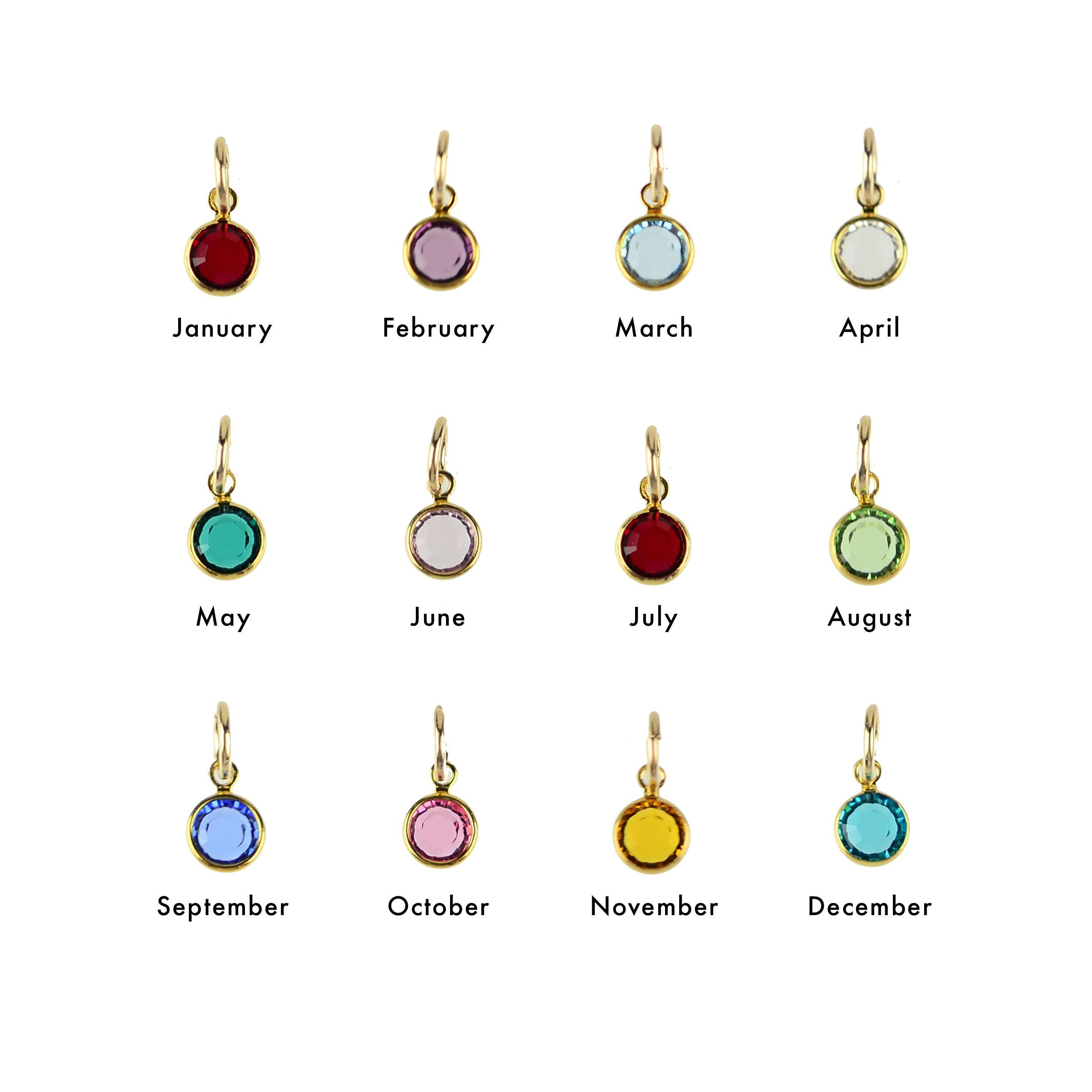 Pre-pack - 12 Birthstone Charm Necklaces (WS)