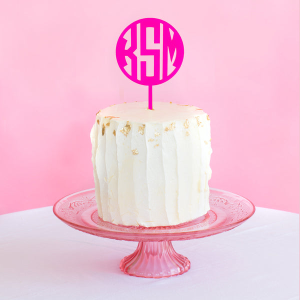 I found this at #moonandlola! - Block Monogram Cake Topper
