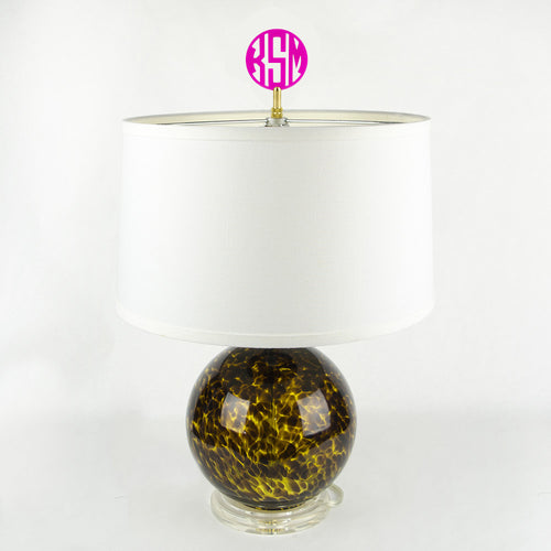 I found this at #moonandlola! - Block Monogram Finial on lamp