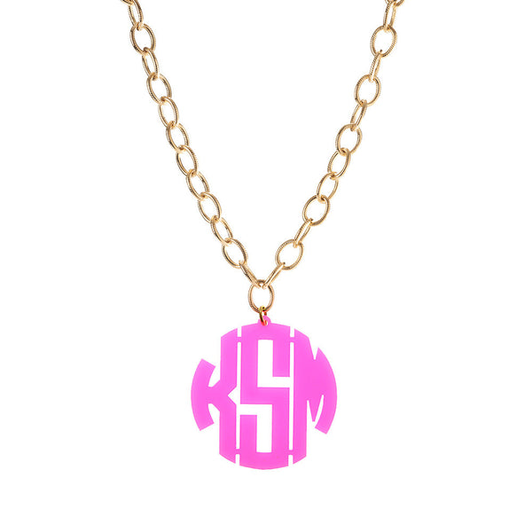 Moon and Lola - Block Monogram on Greenwich Chain