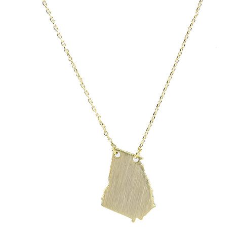 I found this at #moonandlola! - Brass Georgia Necklace