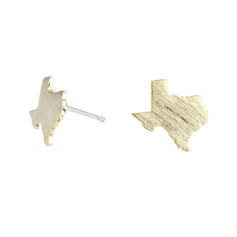 I found this at #moonandlola! - Brass Texas Stud Earrings