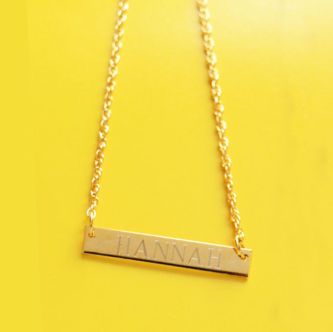 Sample Brass Bar Necklaces